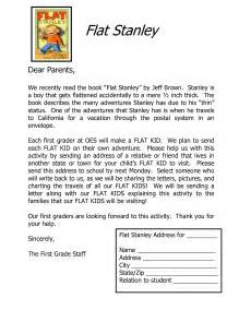 Book Report Letter To Parents Flat Stanley Letter To Parents For Address Google Search