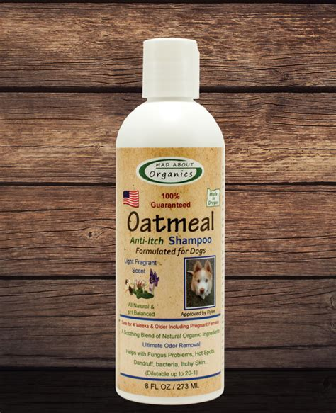 anti itch shoo for dogs organic oatmeal shoo 8oz formulated for dogs