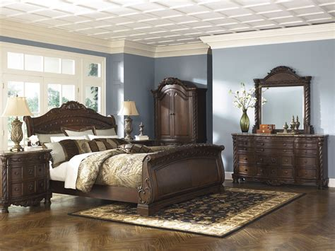 north shore sleigh bed north shore king sleigh bed ashley furniture b553 king