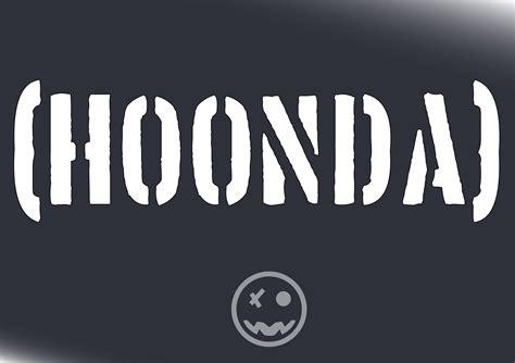 hoonigan stickers on cars hoonda hoonigan honda decal sticker 310mmw suit jdm