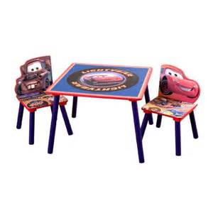 Lightning Mcqueen Car Table Cars Storage Table And Chair Set With Restickables