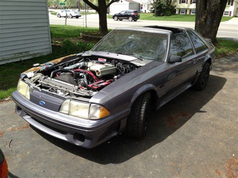 Mustang Auto To Manual Conversion by 1983 Ford Mustang Gt Carb To Fuel Injection Conversion