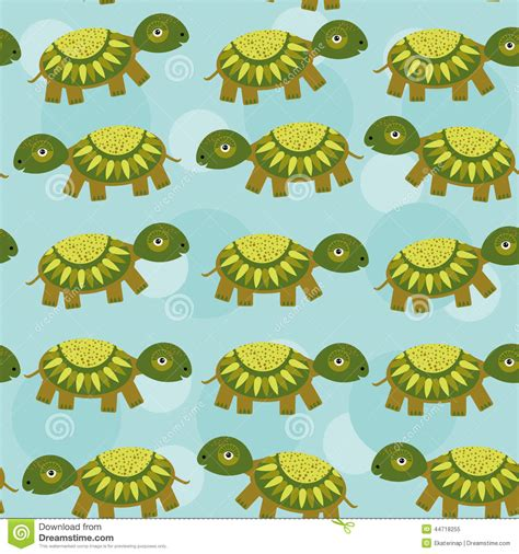 cute animal pattern background turtle seamless pattern with funny cute animal on a blue