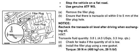 Toyota Transmission Fluid Change Maintenance