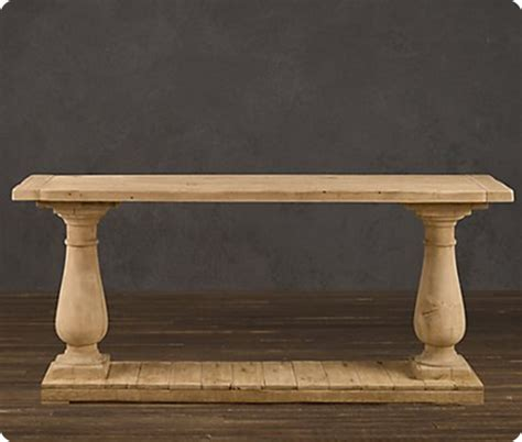 Salvaged Wood wood columns console table