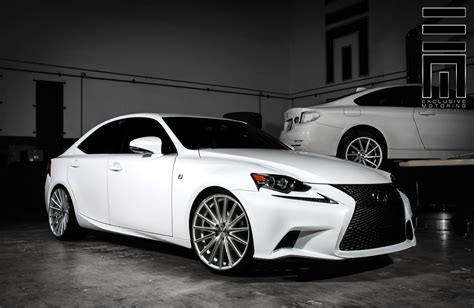 2015 lexus is 250 custom white lexus is250 f on vossen rims by exclusive