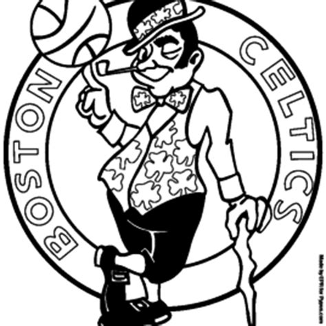 boston celtics colouring pages sketch coloring page