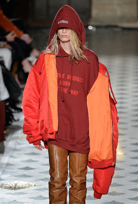 vetements fall   street styles  brand showed