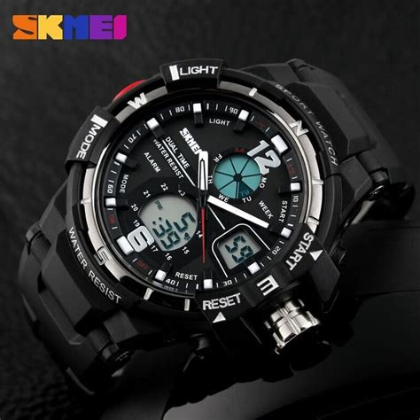 Skmei Sport Analog Led Water Resistant Ad1148 Jam Tangan skmei jam tangan sporty digital analog pria ad1148 black white jakartanotebook