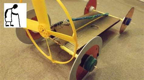 How Do You Make A Car Out Of Paper - dual powered rubber band powered car