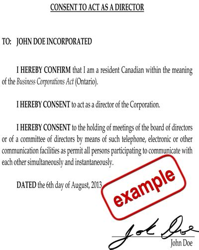 director consent letter format companies act 2013 qualifications for directors of ontario companies