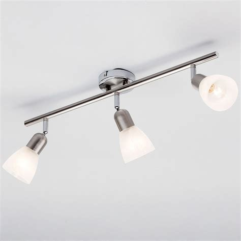 rousse 3 light ceiling spotlight bar satin nickel from