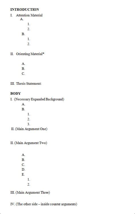 outline template outline template 11 free documents in pdf