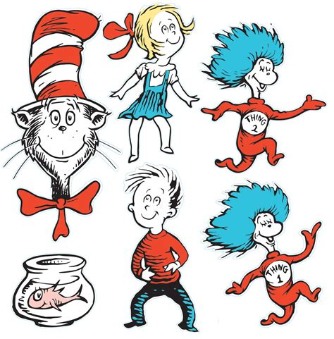 dr seuss 4 cmo dr seuss cat in the hat giant characters decorating kit