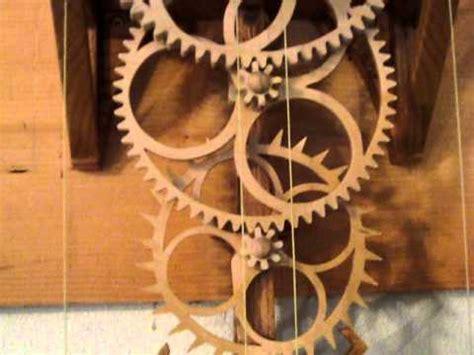 simplicity  wooden gear clock youtube