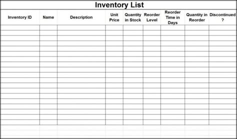 Supplies Inventory Spreadsheet Charlotte Clergy Coalition Office Supplies Inventory Excel Template