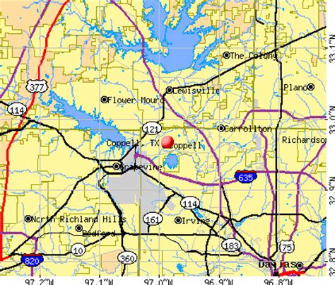 coppell texas map coppell texas tx 75063 profile population maps real estate averages homes statistics