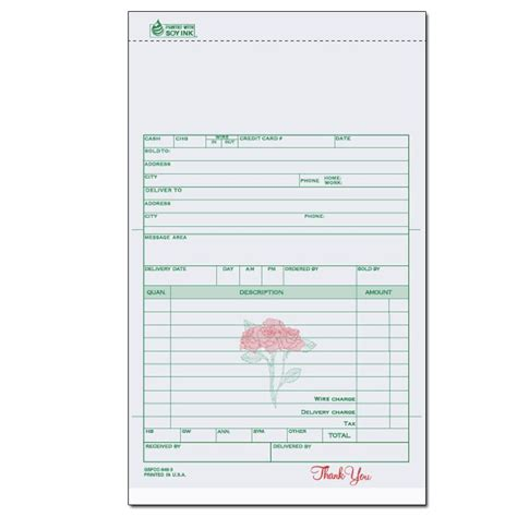 florists flower shop invoices receipts designsnprint