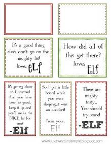 just sweet and simple printable on the shelf notes
