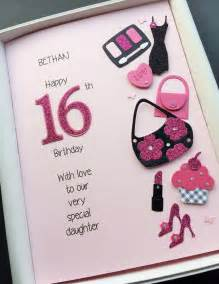 16th 17th birthday card for personalised grandaughter gift boxed ebay