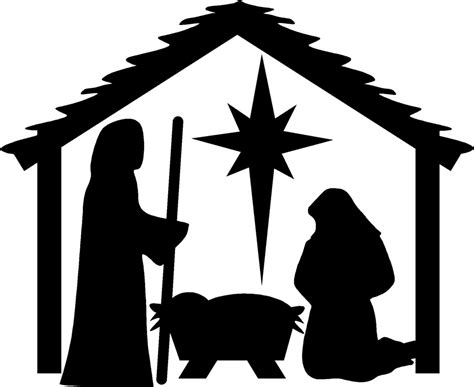 printable christmas silhouettes search results for nativity silhouette coloring page calendar 2015