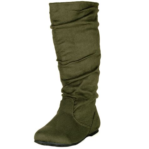 suede slouch boots womens slouch boots flats heel shoes faux suede rounded