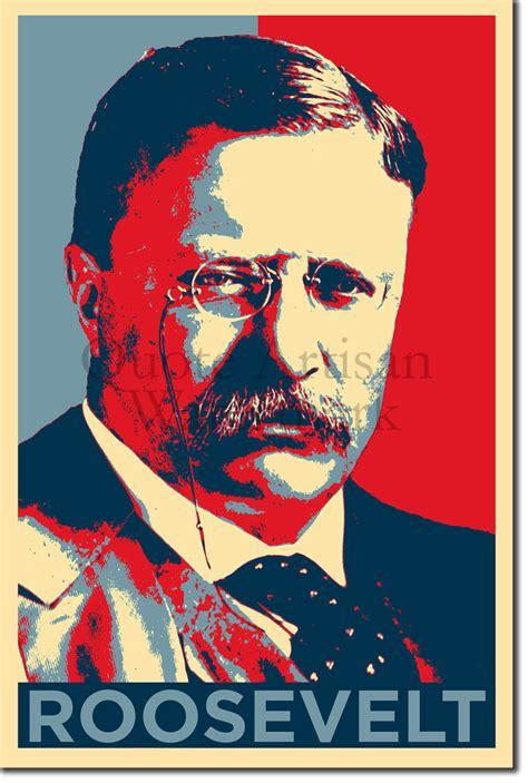 printable poster of u s presidents theodore roosevelt original art print 12x8 inch photo poster