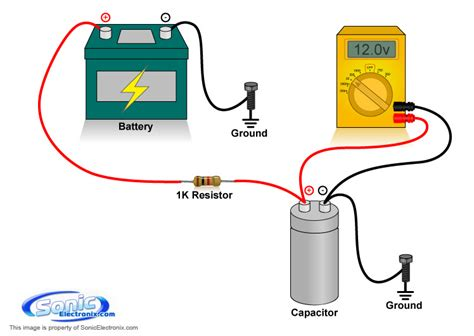 how do i connect a capacitor to a motor how to charge a capacitor learning center sonic electronix