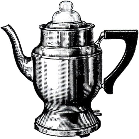 Vintage Coffee Pot Image   The Graphics Fairy