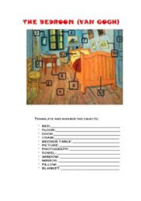 Gogh Bedroom Lesson Plan Intermediate Esl Worksheets Gogh 180 S Bedroom