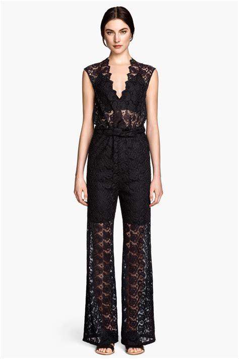 Hm Jumpsuit Ballo Fit L lace jumpsuit black sale h m us