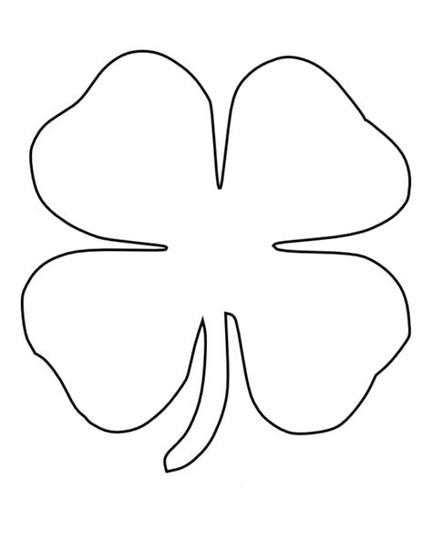 4 Leaf Clover Coloring Page pictures of four leaf clover cliparts co