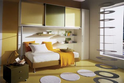 Interior Design For Bedroom Small Space Yellow Compact Bedroom Interior Stylehomes Net