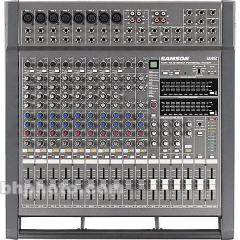 Mixer Audio Samson samson txm16 16 channel table top powered audio mixer