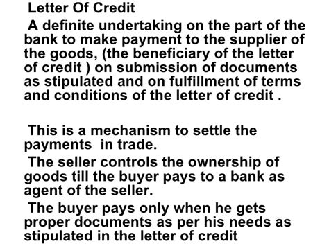 Pre Export Letter Of Credit Finance request letter for bank credit facility