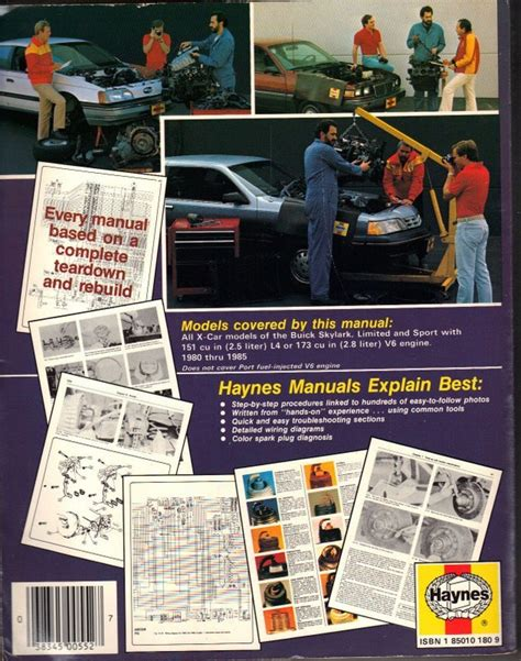 buick skylark x cars 1980 to 1985 haynes automotive repair manual buick buick skylark x cars 1980 to 1985 haynes automotive repair manual nonfiction