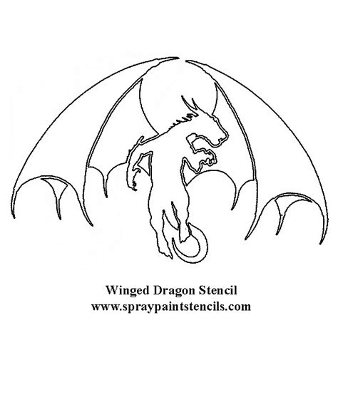 printable dragon templates free fantasy stencils