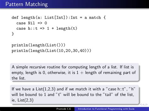 pattern matching option scala scala list pattern matching last element introduction to