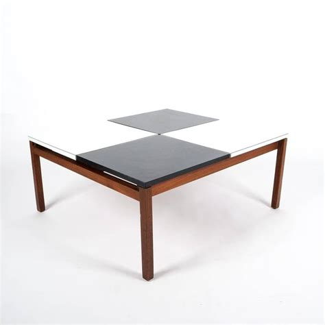 Lewis Butler Black And White Coffee Table Knoll 1960 For Lewis Coffee Tables Sale