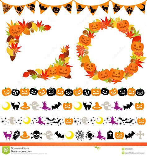 halloween themes line halloween frame and line stock photos image 21058533