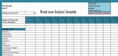 get break even analysis excel template xls excel xls