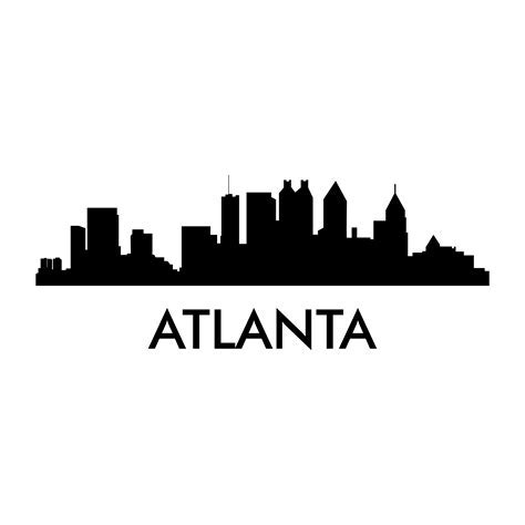 Atlanta Skyline Decal   PhotoMal.com