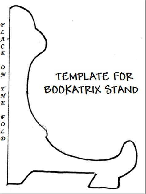 card stand template as i do rodos stand for a bookatrix using recycled