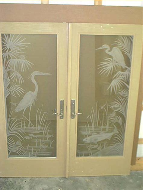 Etched Glass Doors by Line Studio Glass Doors And Room Dividers