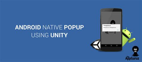 unity android how to create android popup using unity