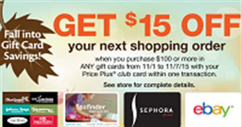 Shoprite Gift Card Discount - 15 off at shoprite with 100 gift card purchase