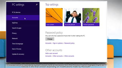 windows 8 password reset youtube how to change login password for a user account in windows