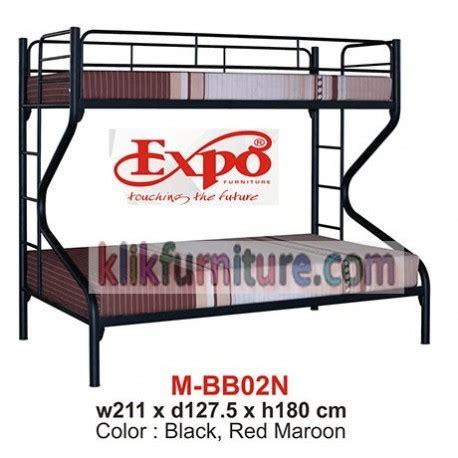 Ranjang Besi Tingkat Ukuran 120x200 mbb 02n ranjang tingkat besi expo sale diskon