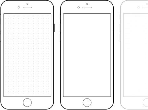 phone screen template mobile telephone coloring page cerca amb all