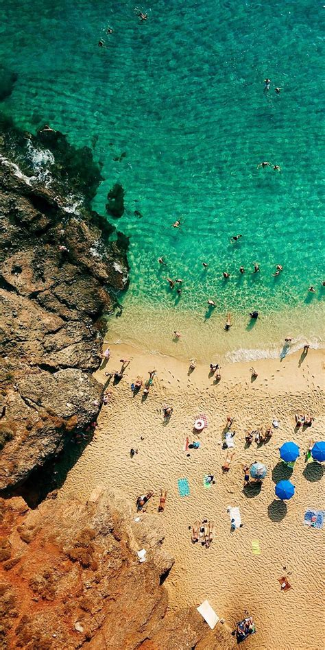 beach people aerial view iphone wallpaper iphone wallpapers